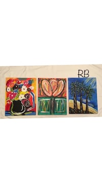 3 piece one of a kind acrylic artwork La Vergne, 37086