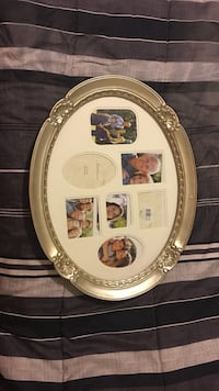 oval silver collage photo frame