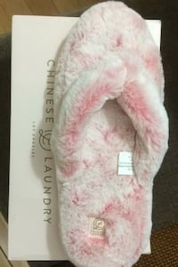 Flip flops, pink, fluffy and new. Size XL Edmonton, T5T 5R5