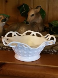 Imperial milk glass dish  Lexington, 27295