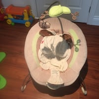 Baby's white and brown bouncer Laval, H7G 0C2