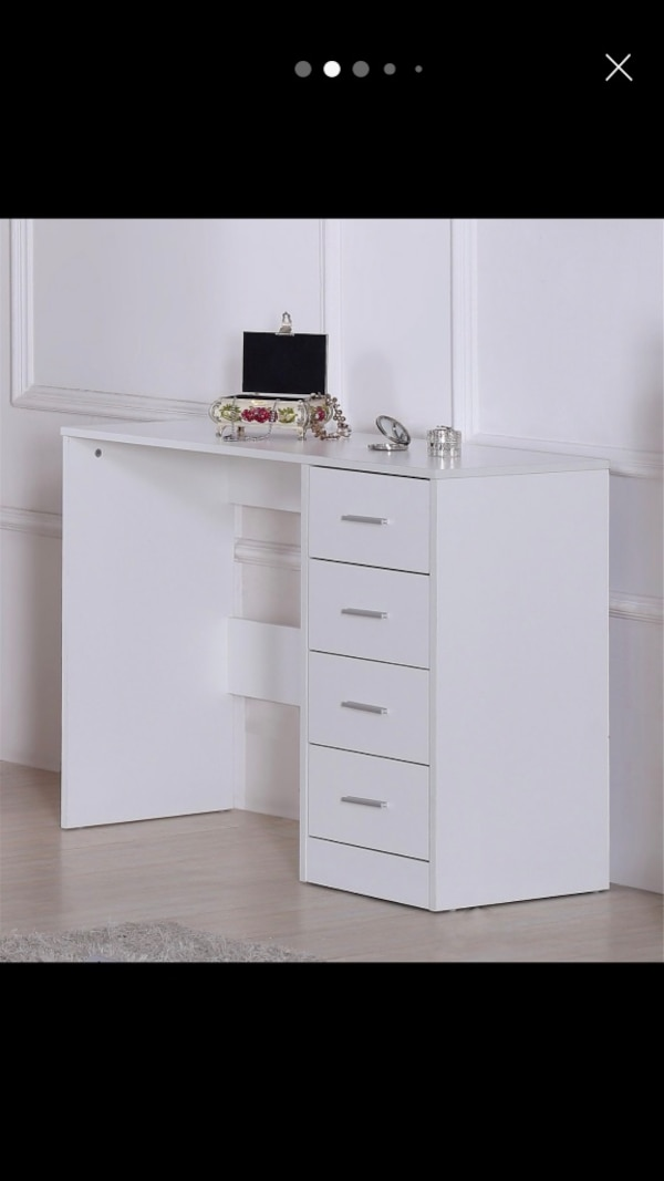 High gloss fronts study desk/ dressing table