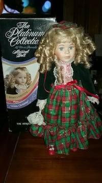 The heritage mint porcelain doll mary christine