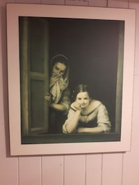 Two Women at a Window mounted print