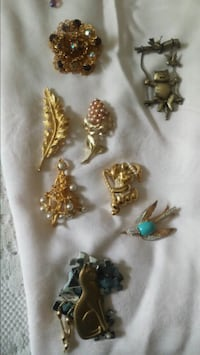 Vintage costume jewelry pins Belvidere, 07823