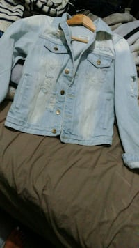 New Oversized Distressed Denim Jacket. Laval