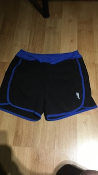 Black and blue micro shorts