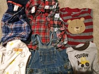 Boys overalls and shirts-6 months  292 mi