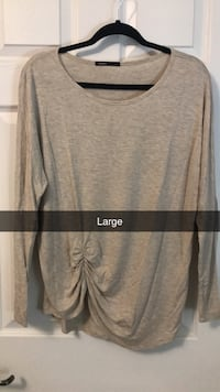 Large tan long sleeve