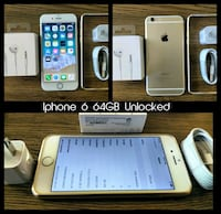 Iphone 6 (4.7') UNLOCKED 64GB w/ Accessories  Arlington