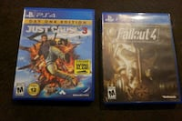 Just cause 3 and Fallout 4 Burbank, 91505