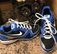 Nike blue, black, white, & silver running shoes ( new )- pls slide to see other photo Calgary, T2J