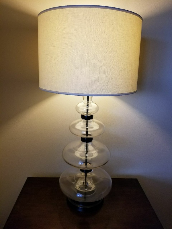 Used Pottery Barn Estelle Stacked Glass Table Lamp For Sale In