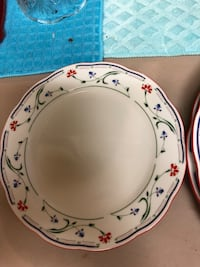 white and pink floral ceramic plate North Highlands, 95660