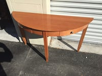 Half moon foyer table