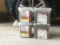 GRK FASTENERS  4 new boxes