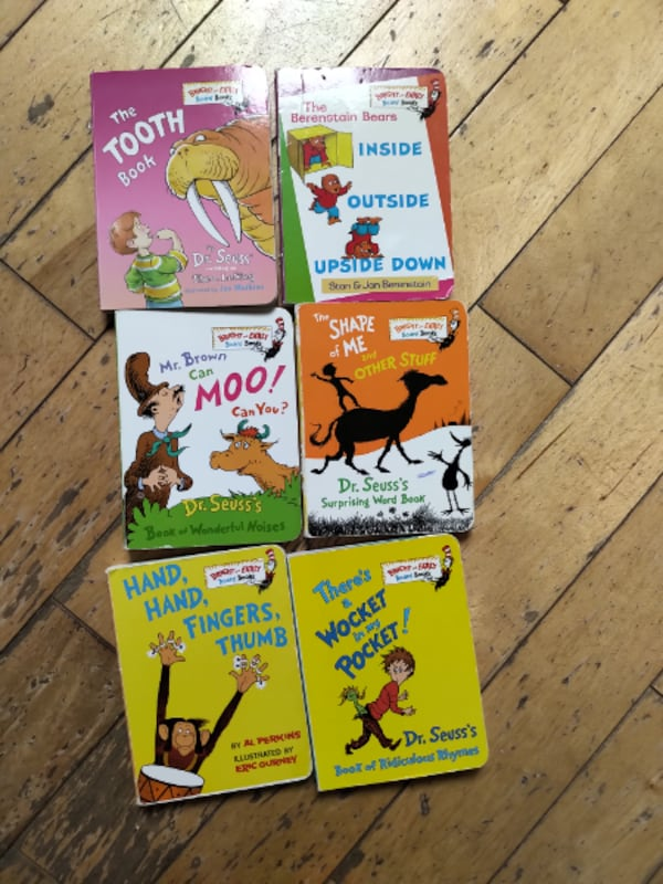 Dr. Suess board books 18 in total  Asking $36.00 for all or $2 each. ae66985b-4faa-4d66-999d-0a43eac712fc