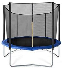 EUC  15' Trampoline with Safety Enclosure | Includes Spring Pad Huntersville, 28078