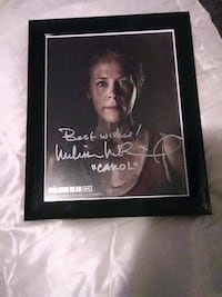 "Signed walking dead photo "" Carol"""