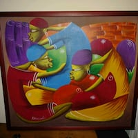 """Preowned 2009 African print 21"""" x 24"""" from Prints  Edmonton, T6X 1J9"""
