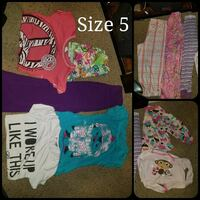 Girl size 5 clothing lot 10 pieces