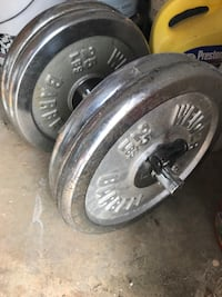 Vintage chrome weights (plates)