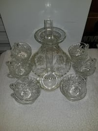 Cut glass stand and 12 cups Lumberton, 08048