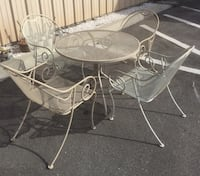 Wrought Iron Chairs with Umbrella Table Seminole, 33709