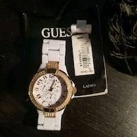 GUESS Ladies Watch White/Gold Concord, L4K