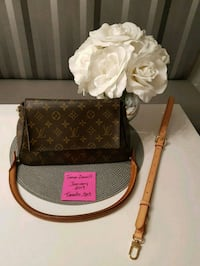 brown and black Louis Vuitton leather crossbody bag Bradford West Gwillimbury, L3Z 3G2