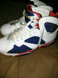 pair of multicolored Air Jordan 7's Denver, 80249