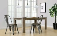 Gun Metal Chairs With Wood Seats