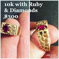 10k ruby with diamond accents  NO TRADES NO HOLDS  Albuquerque, 87121