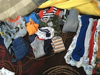 Boys 3-6 month clothing. EUC 1-3pc outfit 3-2pc outfits  2-1pc outfits 2- long sleeve onesies 2-short sleeve onesies  Overalls 6 sleepers  3-6 month