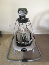 baby's gray and white cradle and swing Boerne, 78015