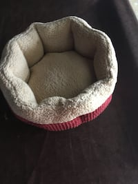Brown and white pet bed 2300 mi