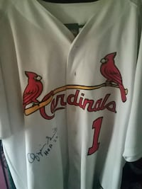 Ozzie smith autographed jersey