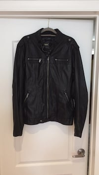 Men's faux leather motorcycle style jacket (large)  Toronto, M3J 1Y4