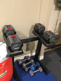 Mileage fitness adjustable weights with rack