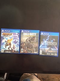 Three assorted ps4 game cases Ottawa