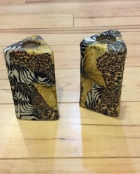 Pair of animal print candles