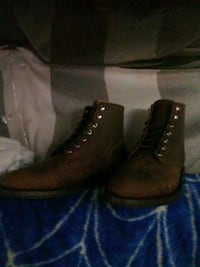 pair of brown leather boots Los Angeles