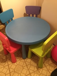SOLD Kids table set (price reduced) $70.00 instead of $80.00 SOLD Ottawa, K4A 3L1