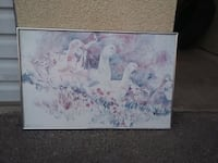 white and blue abstract painting 2172 mi