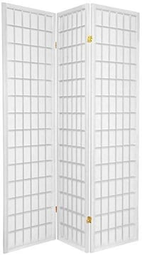NEW 5 ft. Tall Window Pane Shoji Screen - White -
