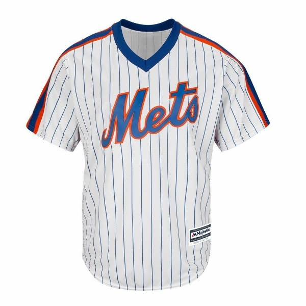 online store 37dfe 4c81a New York Mets Majestic Cool Base Throwback MLB Jersey Women's