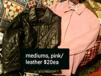 jackets $20 pink is leathee