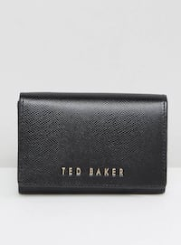 Black ted baker leather trifold wallet