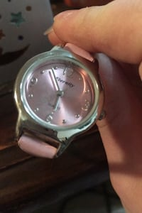 Pink band watch