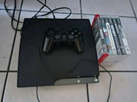 black Sony PS3 slim console with controllers and g Las Vegas, 89119